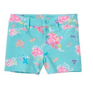 Floral high waist knit shorts size 12